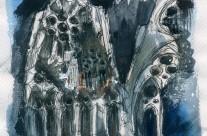 Sagrada Familia (Tracería in blue)
